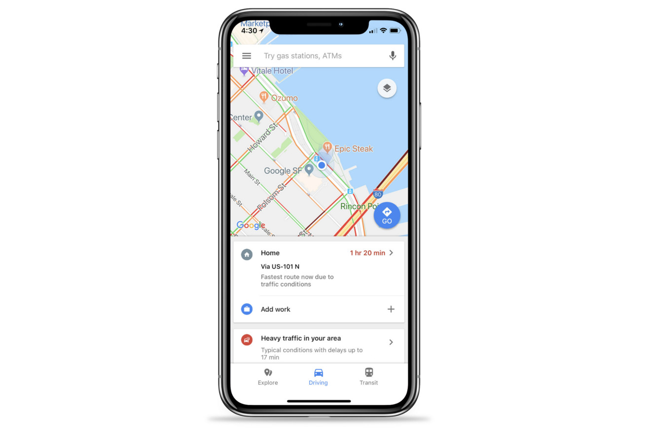 google maps on ios gets new quick access menus for real time commuting info