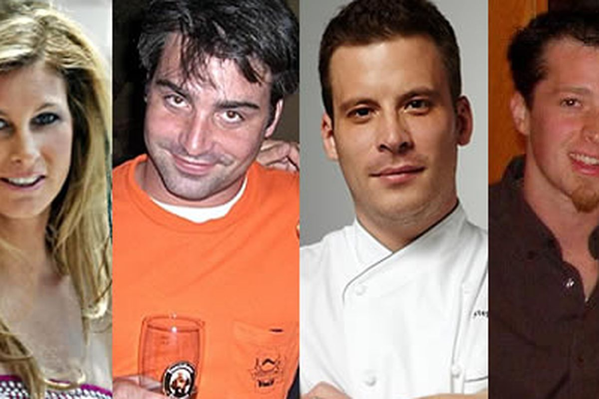 Jennifer Carroll (Top Chef), John Taus (The Corner), Stephen Wambach (Barclay Prime), Lee Styer (Fond)