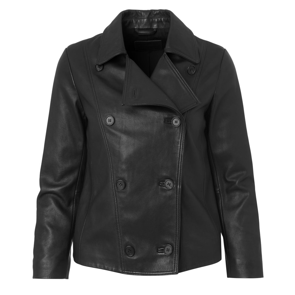 A leather blazer