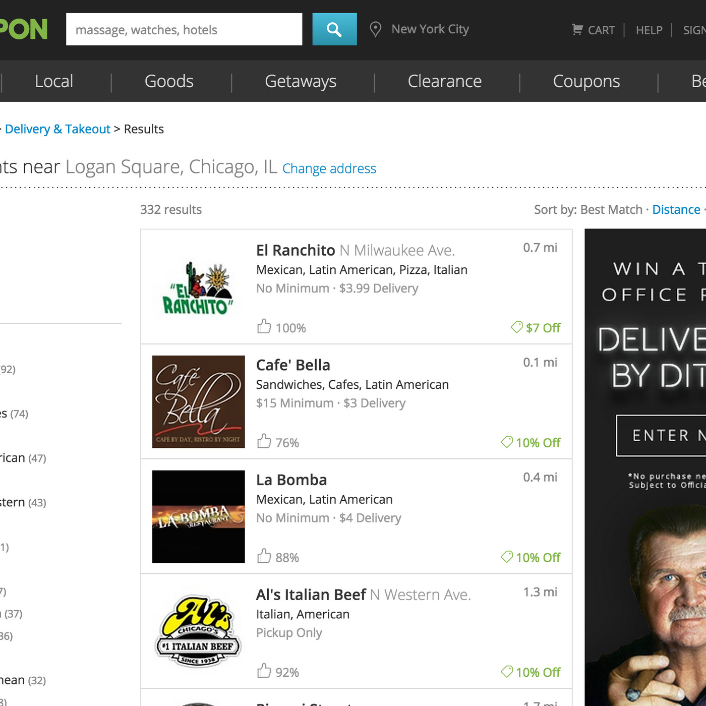 Groupon takes on Seamless and GrubHub with online food