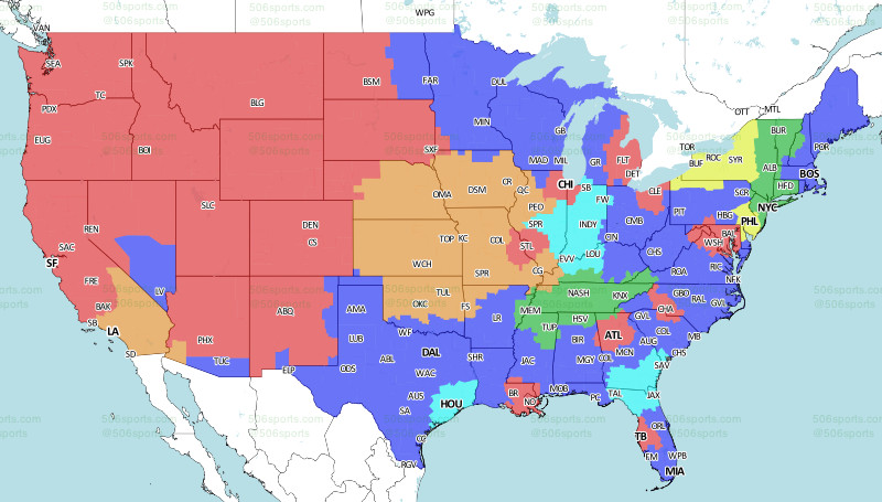CBS is barely showing the Eagles vs. Bills game this week - Bleeding Cbs Nfl Tv Coverage Map on