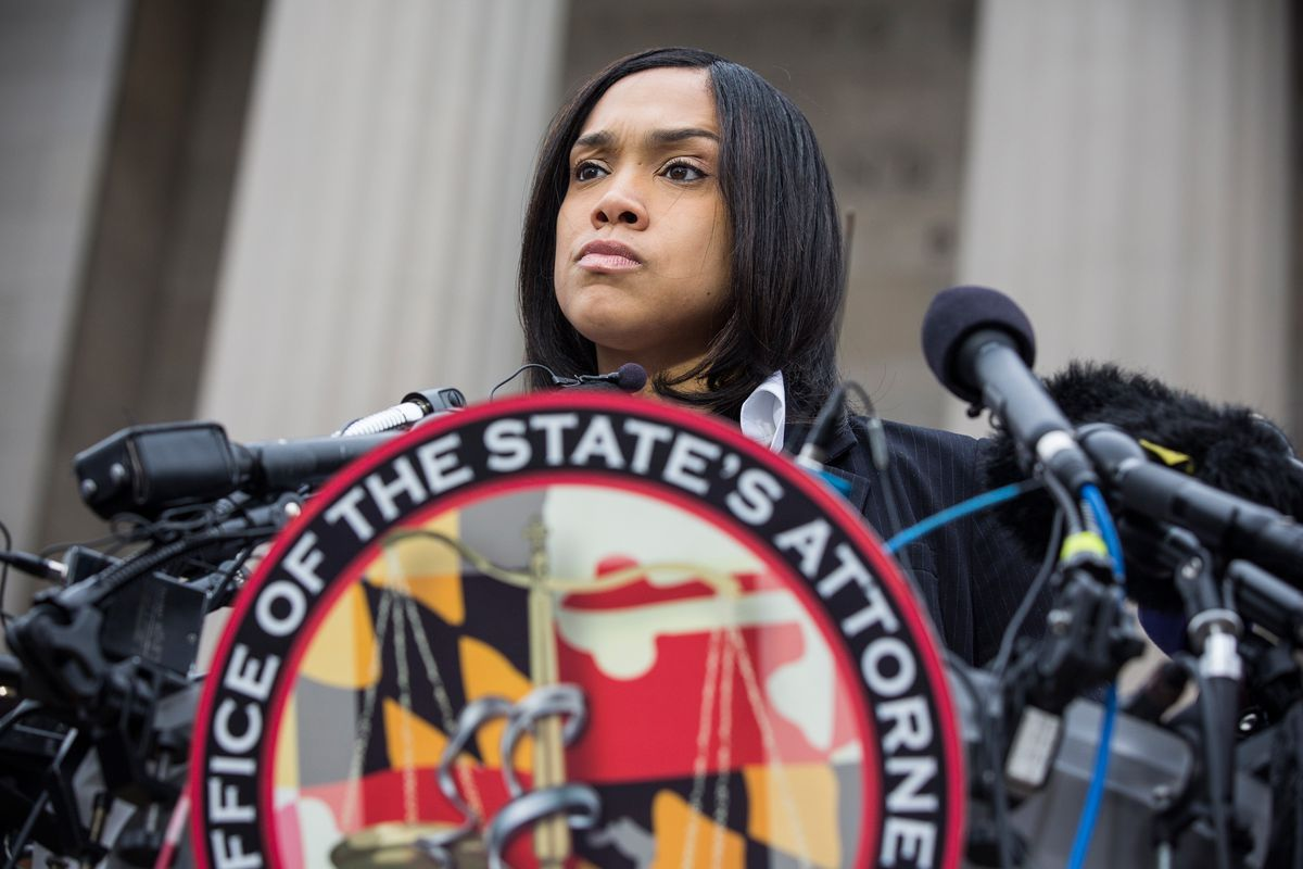 Baltimore City State's Attorney Marilyn Mosby on May 1, when she announced charges against the police officers involved in Freddie Gray's death.
