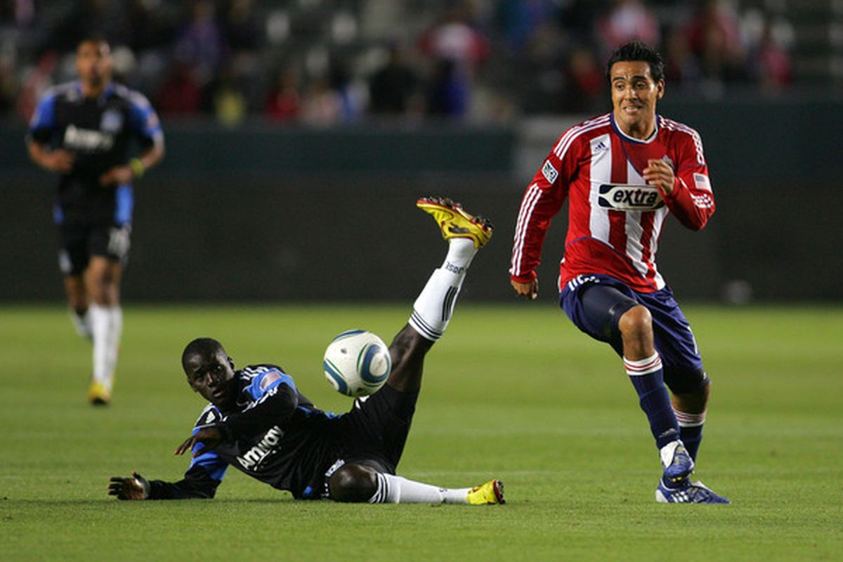 Omar Jasseh appeared in one MLS match in the 2011 season, a 2-0 loss at Chivas USA