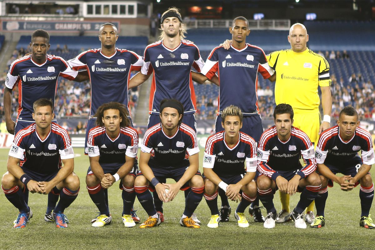 FOXBORO, MA - SEPTEMBER 1:  The New England Revolution pose for a team picture before their game against the Philadelphia Union at Gillette Stadium on September 1, 2012 in Foxboro, Massachusetts.  (Photo by Winslow Townson/Getty Images)