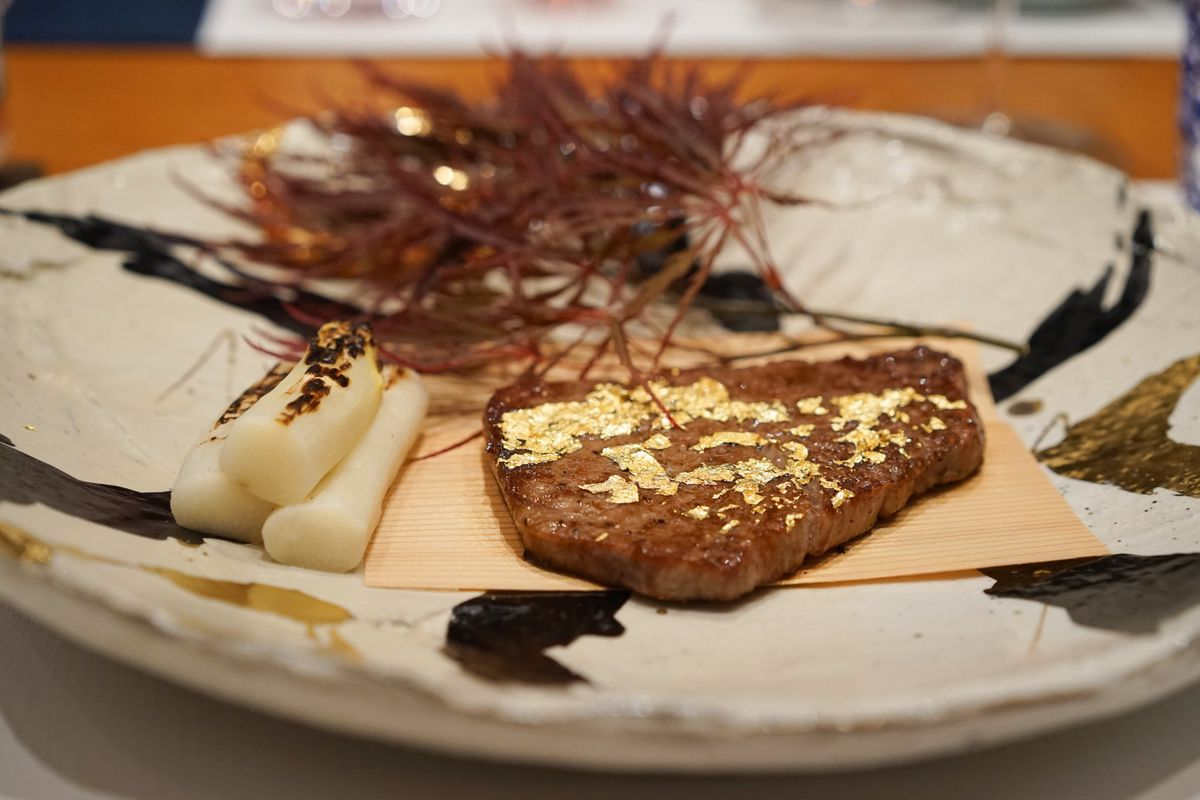 Silicon Valley Japanese Restaurant Caters To Tech Bros With Gold Encrusted Steak Eater
