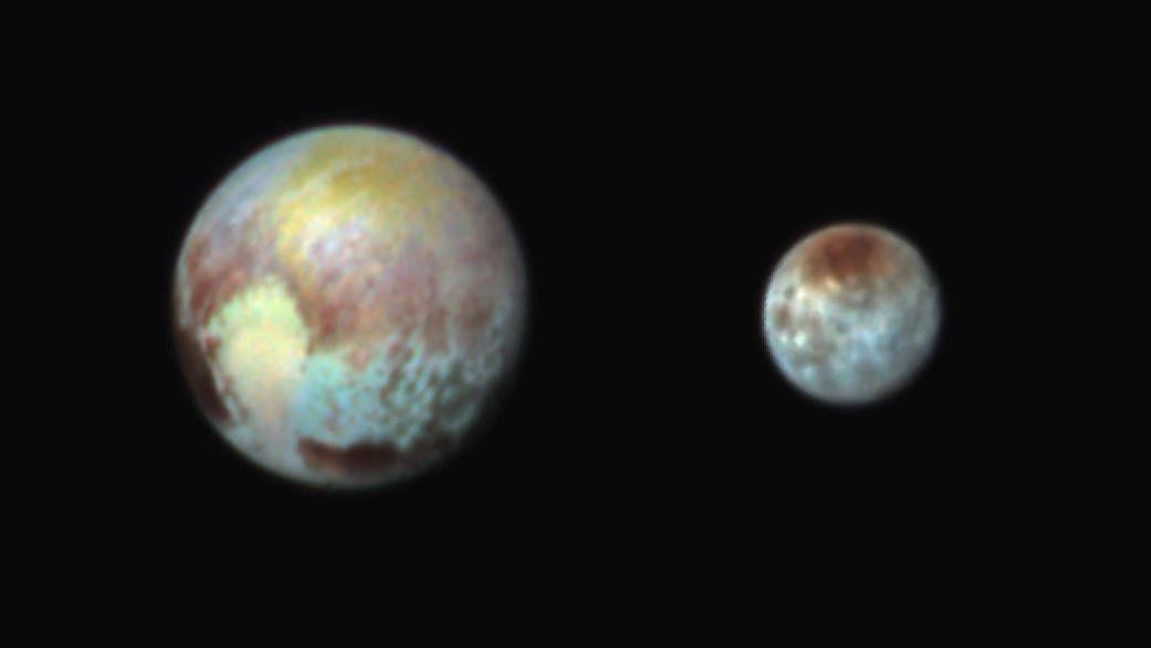Pluto Charon false color
