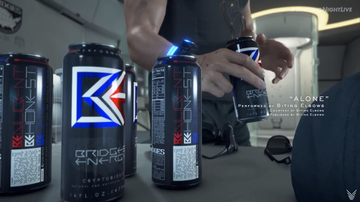 a generic death stranding energy drink