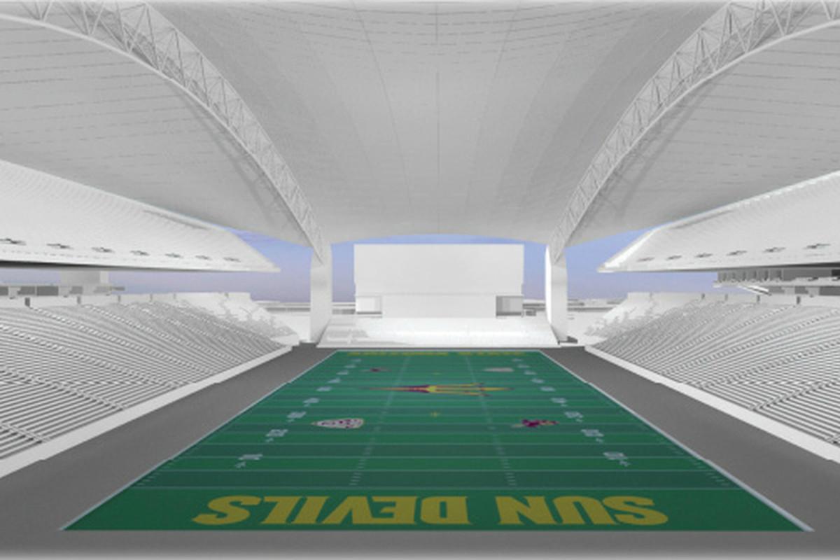 The view from inside Sun Devil Stadium (Image: ASU)