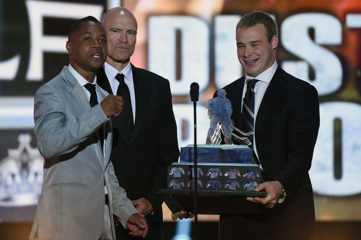 here is a picture with Dustin Brown and Cuba Gooding Jr