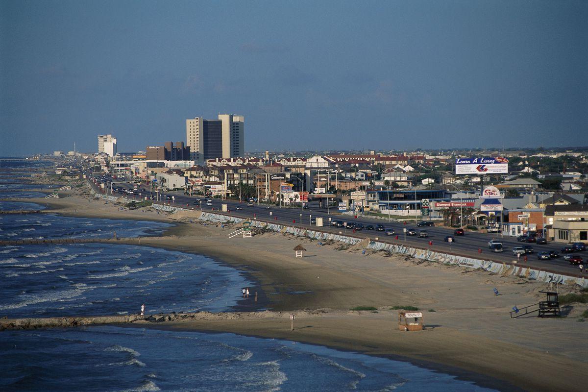 Coastline of City with Seawall