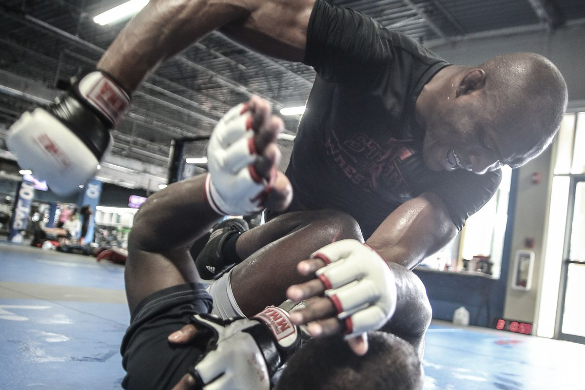 Kamaru Usman sparring at the JACO gym, home of the Blackzilians