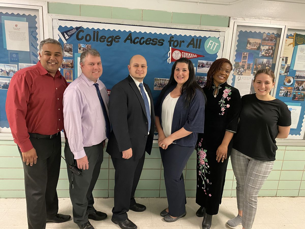 York Early College Academy's guidance and administration team.