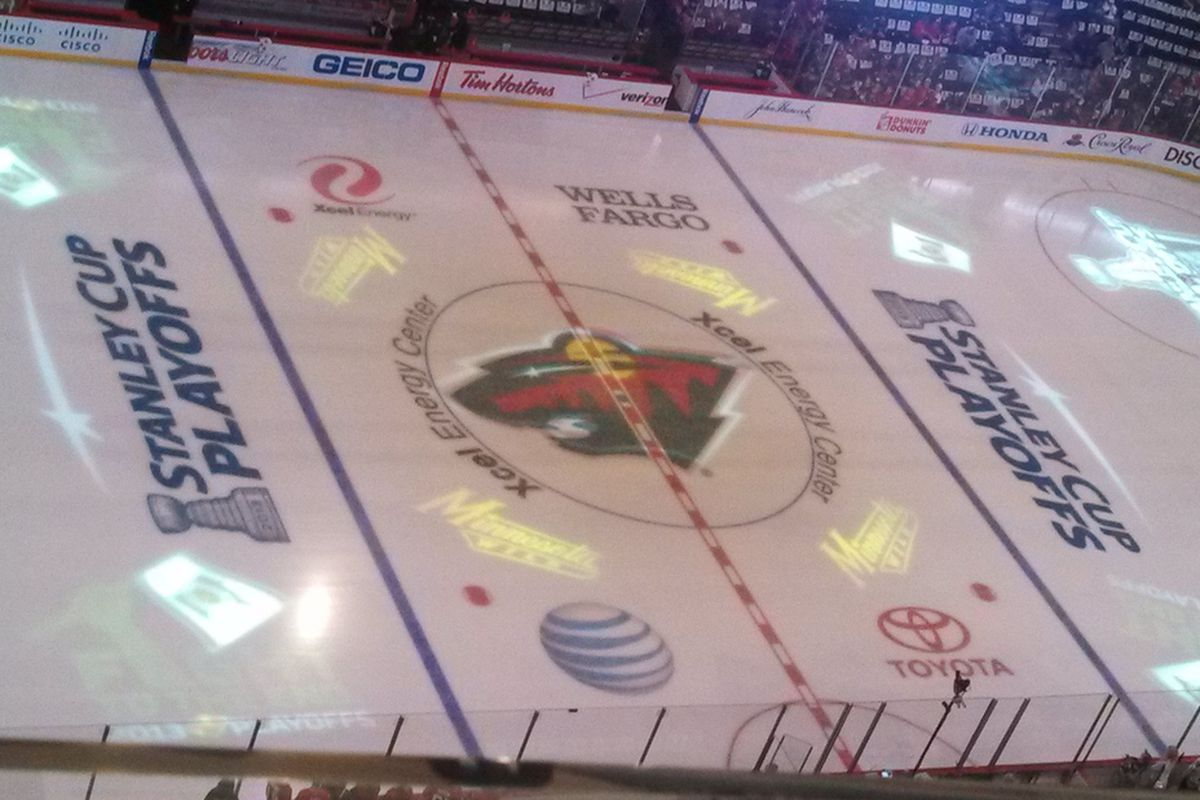 A final look at playoff ice for the Wild this season.
