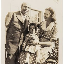This photo of Al Capone with Casey and his grandchild, Ronnie, is now available for auction at Witherell's. The auction goes live on Oct. 8, 2021.
