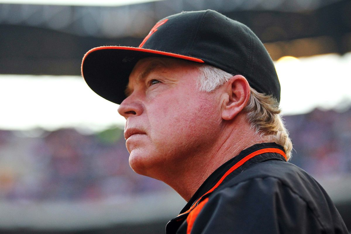 Aug 21, 2012; Arlington, TX, USA; Baltimore Orioles manager Buck Showalter. Kevin Jairaj-US PRESSWIRE
