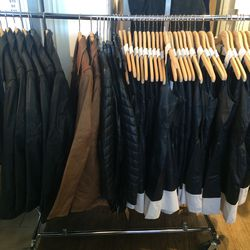 Leather items, $75