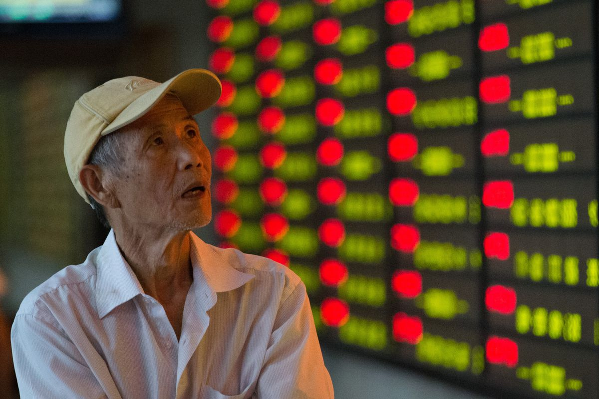A man watches China's stock market. He is not thrilled.