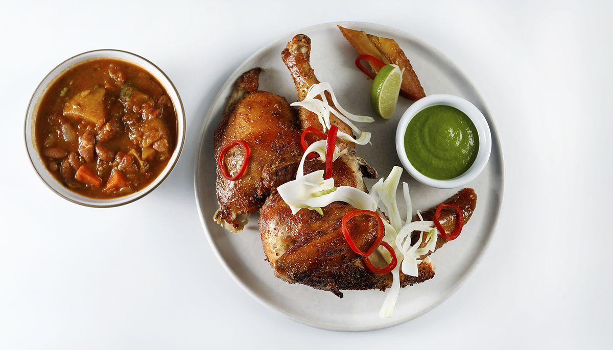 Adobo chicken from Tripleta pop-up
