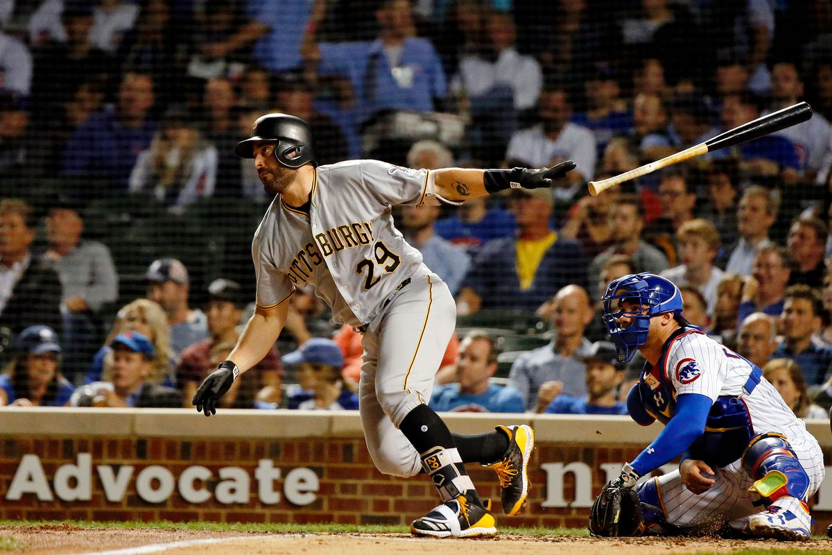 pirates and dodgers discussing cervelli bucs dugout
