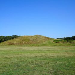 Earth mounds at Poverty Point in Louisiana included the huge temple platform Mound A.