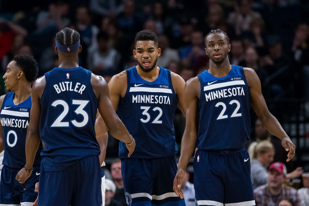 6ee31c7a0423 Jimmy Butler unhappy with Karl-Anthony Towns in latest T Wolves controversy