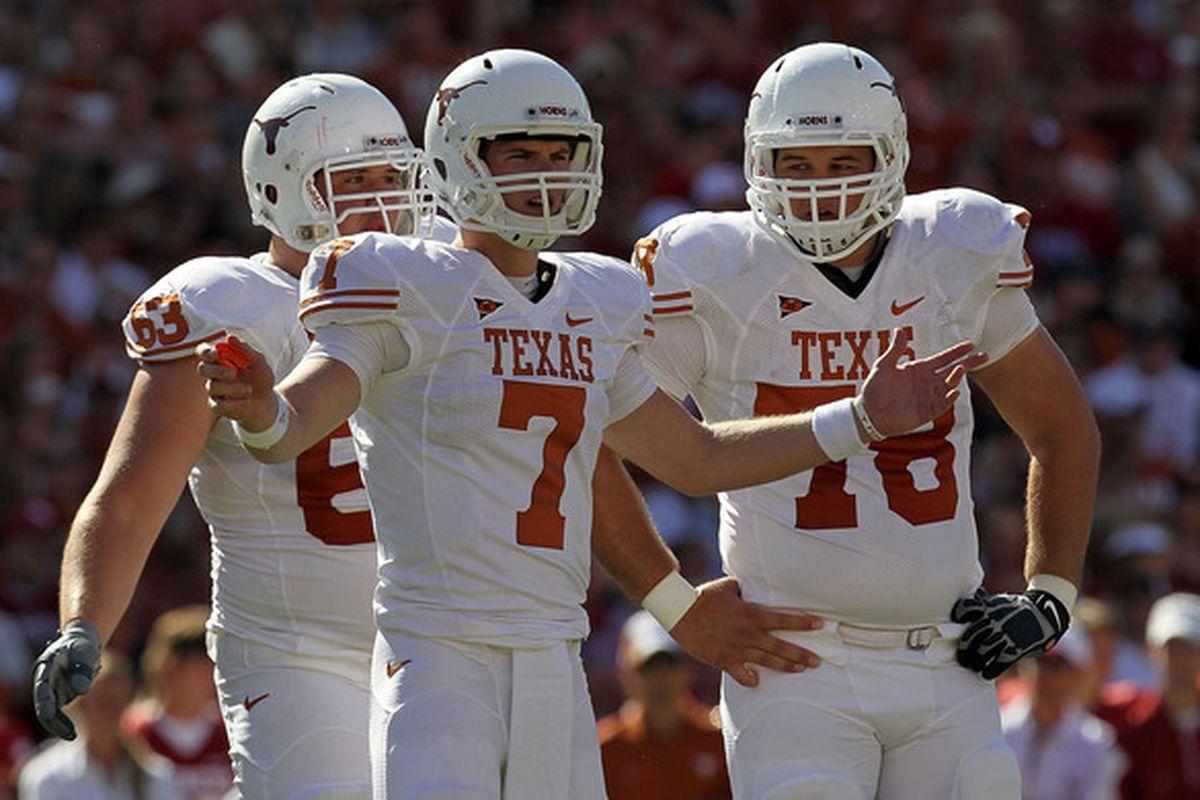 Secret Is Out Garret Gilbert Will Start At Quarterback For Texas Crimson And Cream Machine