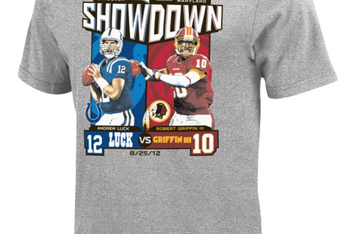 """You too can shell out $35 for a t-shirt commemorating a preseason game. Dan Snyder is calling to you at the <a href=""""http://store.redskins.com/cart.php?m=product_detail&p=9257"""" target=""""new"""">Official Redskins Team Store</a>!"""