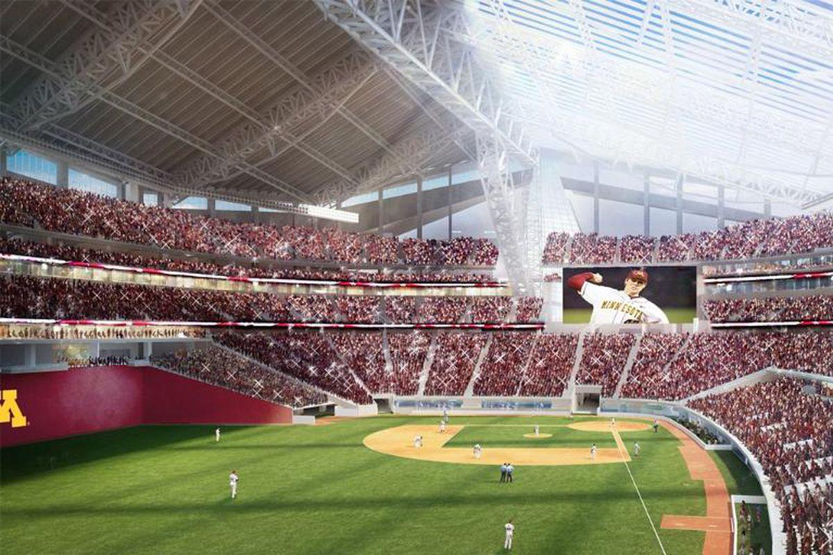 Minnesota Gopher Baseball The New Vikings Stadium
