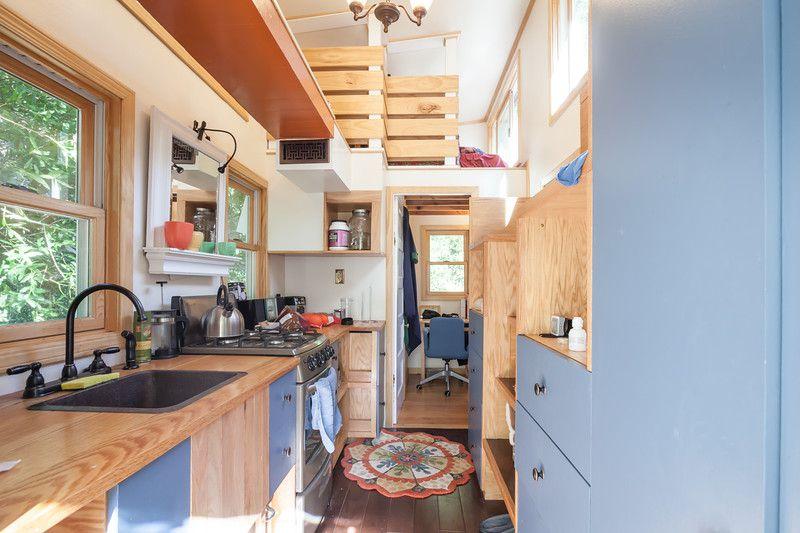The interior of Joyce Maynard's tiny house.