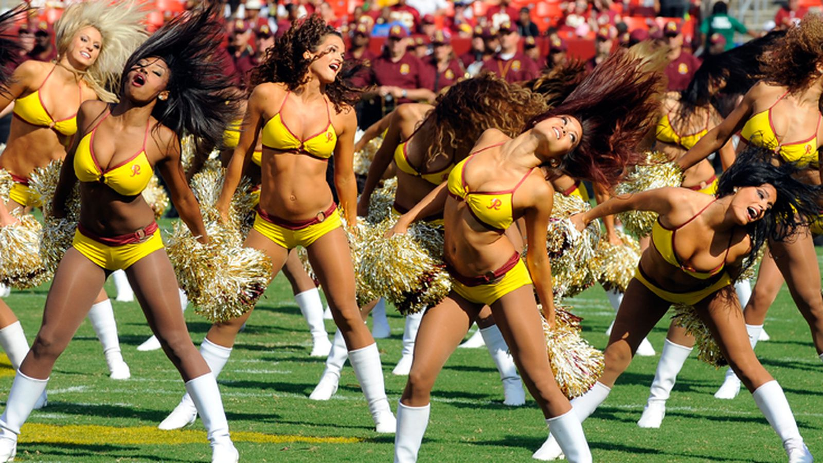 Cheerleaders reportedly accuse redskins of pimping us out, giving access to topless shoot