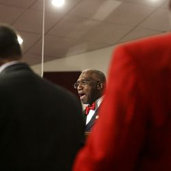 Rev. France Davis, pastor ofCalvary Baptist Church in Salt Lake City,delivers a sermon on Sunday, Dec. 22, 2019. Rev.Davis is planning to retire at the end of the year after having been pastor of the church since 1974.