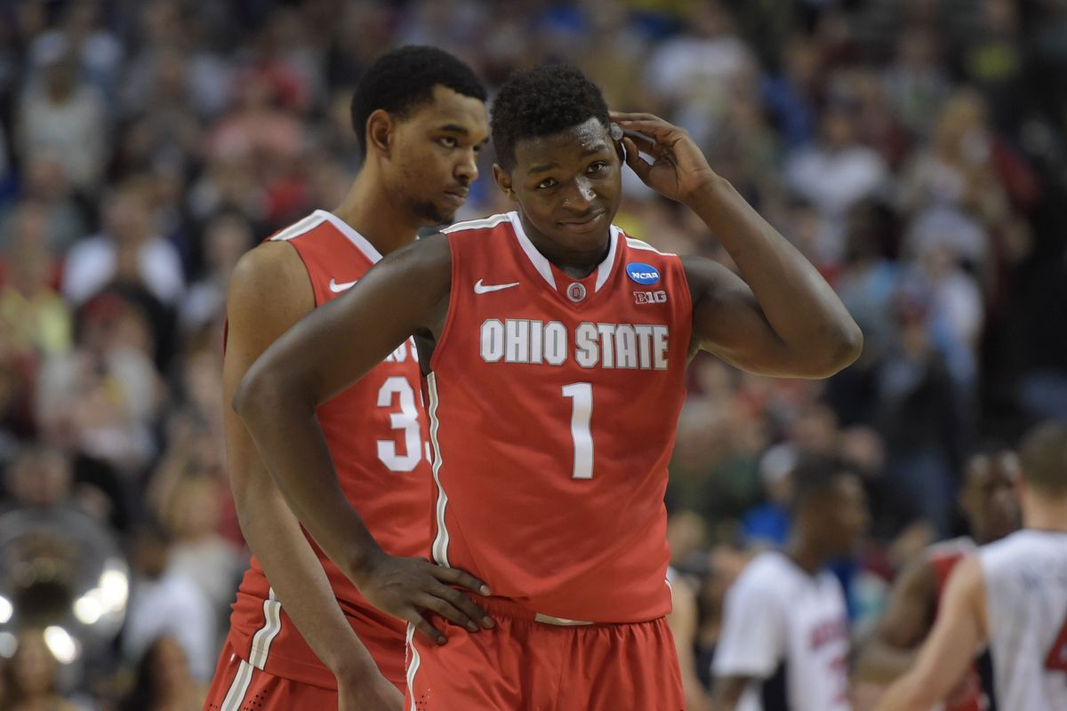Jae'Sean Tate (center) is expected to be one of Ohio State's top contributors in 2015-16