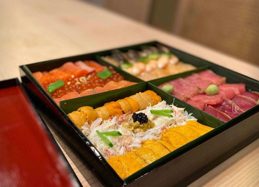 Jewelrybox chirashi from Kaneyoshi