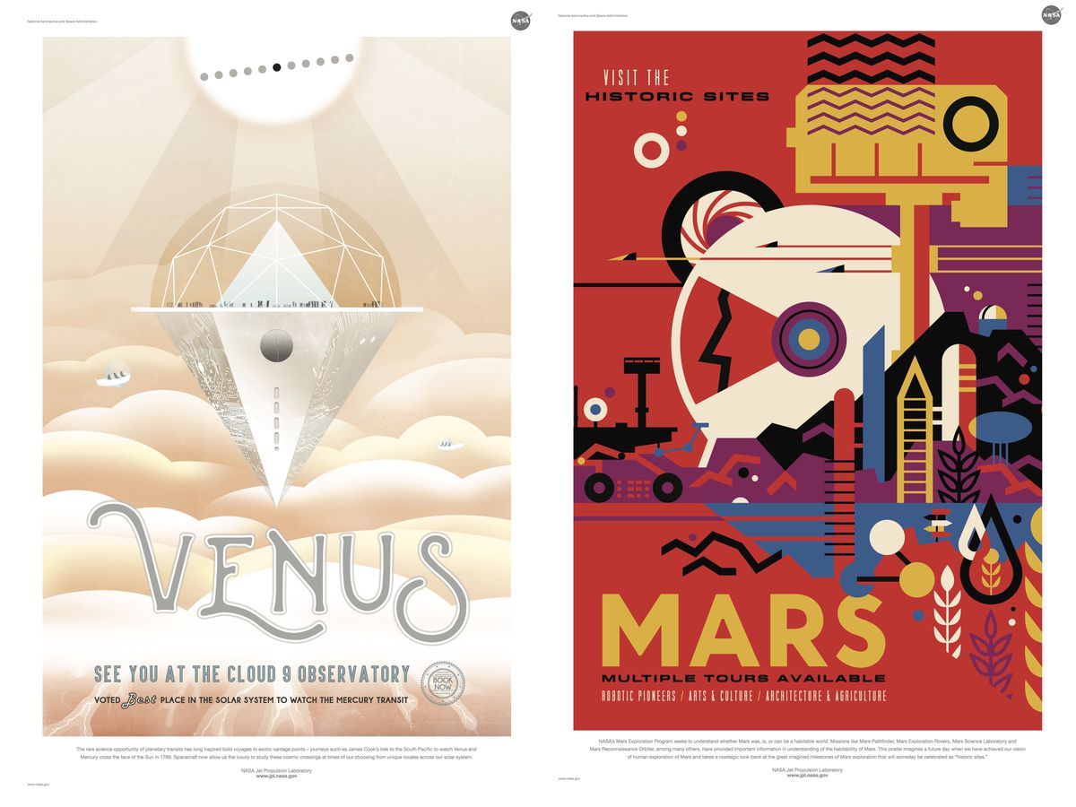 Venus and Mars posters