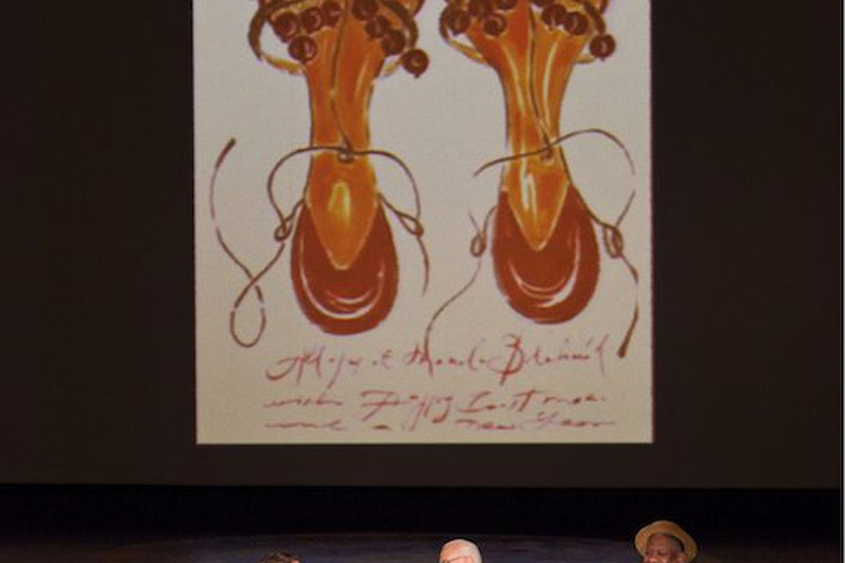 The NY Times' Eric Wilson, Manolo Blahnik, and Andre Leon Talley talk at SCAD