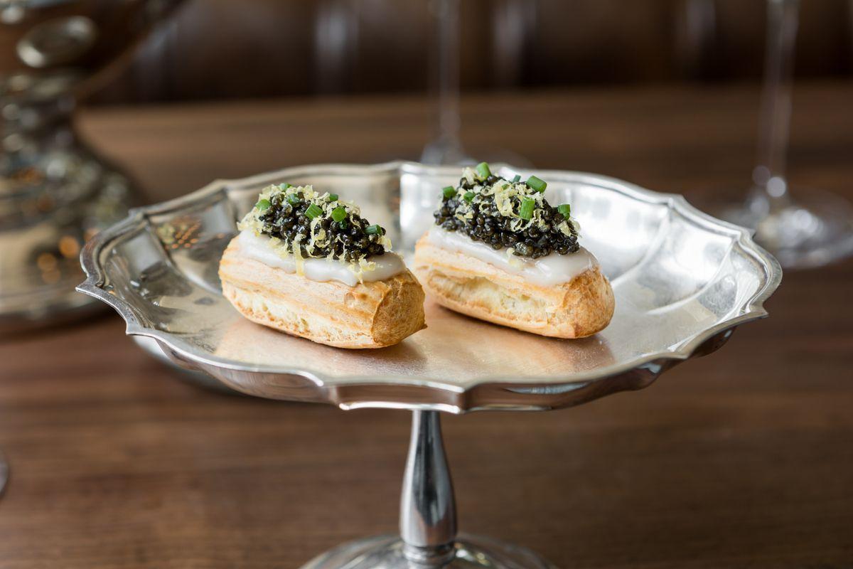 Caviar eclairs at Le Fantastique