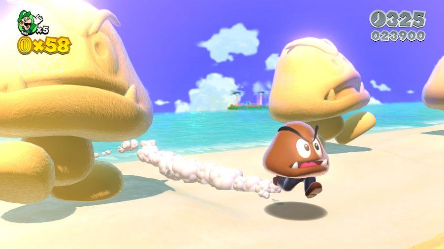 Fresh Super Mario 3D World Screens Show Off Cat Powers, Sand Goombas, Kuribos Skate -3427