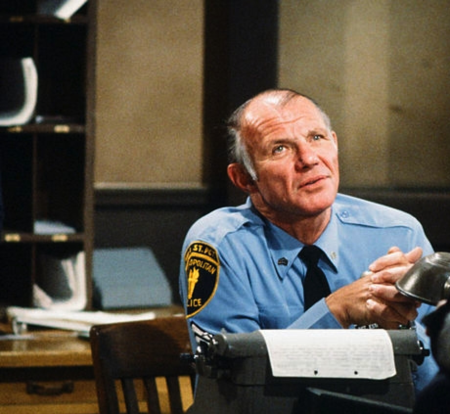 """The late actor Michael Conrad in """"Hill Street Blues,"""" in which he played Sgt. Phil Esterhaus, who ended the introductory roll call in each show with """"Let's be careful out there."""""""