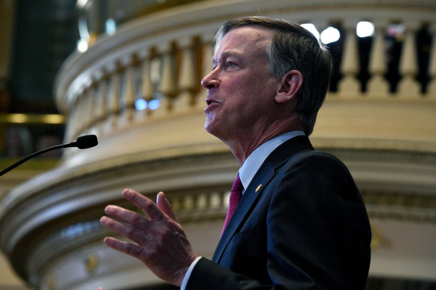 Colorado Gov. John Hickenlooper at his 2016 State of the State Address.