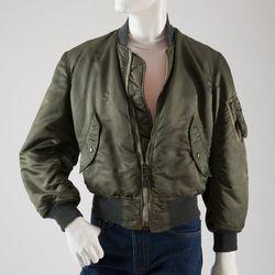 Man's Clone Look: nylon flight jacket, t-shirt and pant, circa 1978, USA. The Museum at FIT.