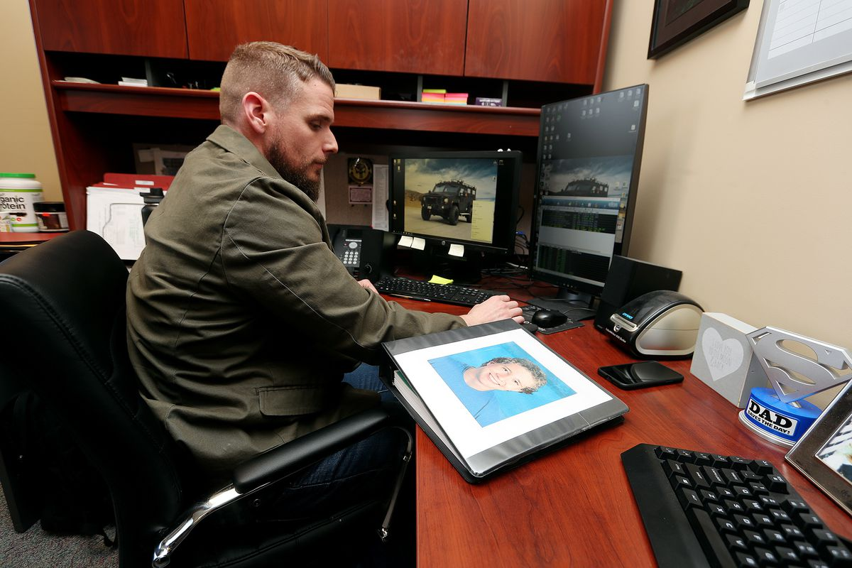 Detective John Peirce, poses for photos in his office at the Davis County Justice Center in Farmington on Monday, April 1, 2019. Detective Peirce worked on the Tevan Tobler case.