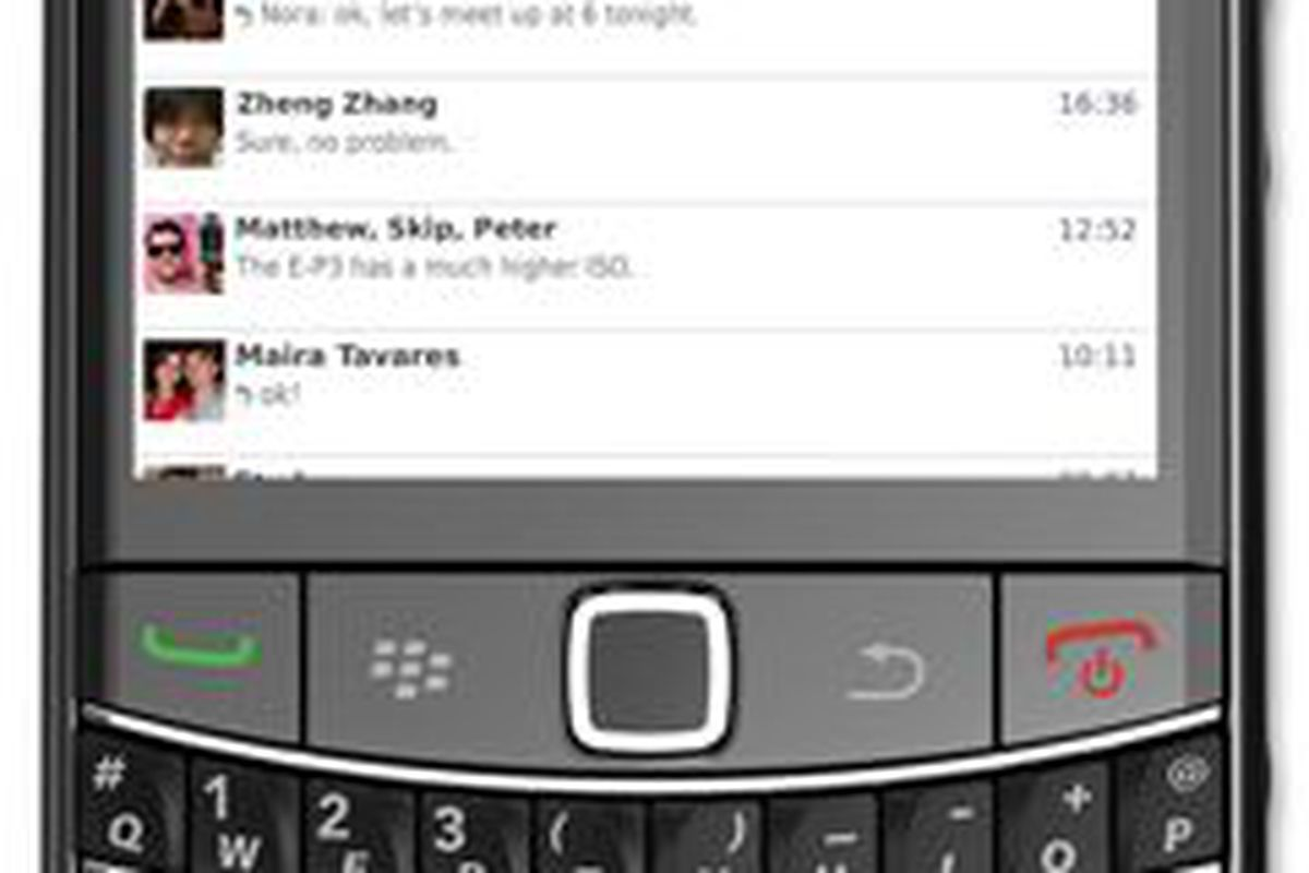 Facebook Messenger app updated, now available for BlackBerry