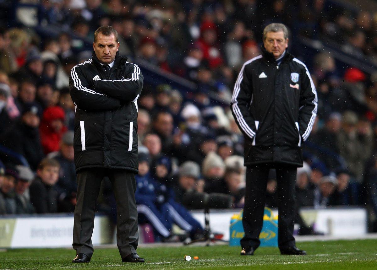 Roy Hodgson and Brendan Rodgers - Crystal Palace vs Leicester City - Premier League