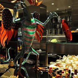 The Mexican kitchen at Bacchanal Buffet.