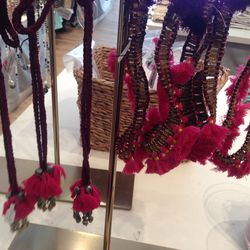 Tassel necklaces, $30—$42