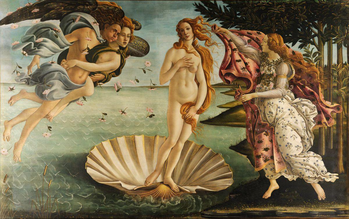 The Birth of Venusby Sandro Botticelli, 1483 to 1485.