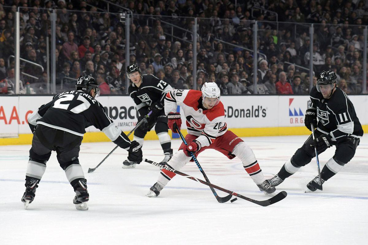 NHL: Carolina Hurricanes at Los Angeles Kings