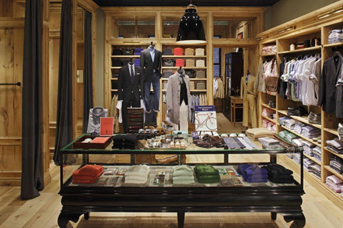 The J.Crew men's shop in Tribeca