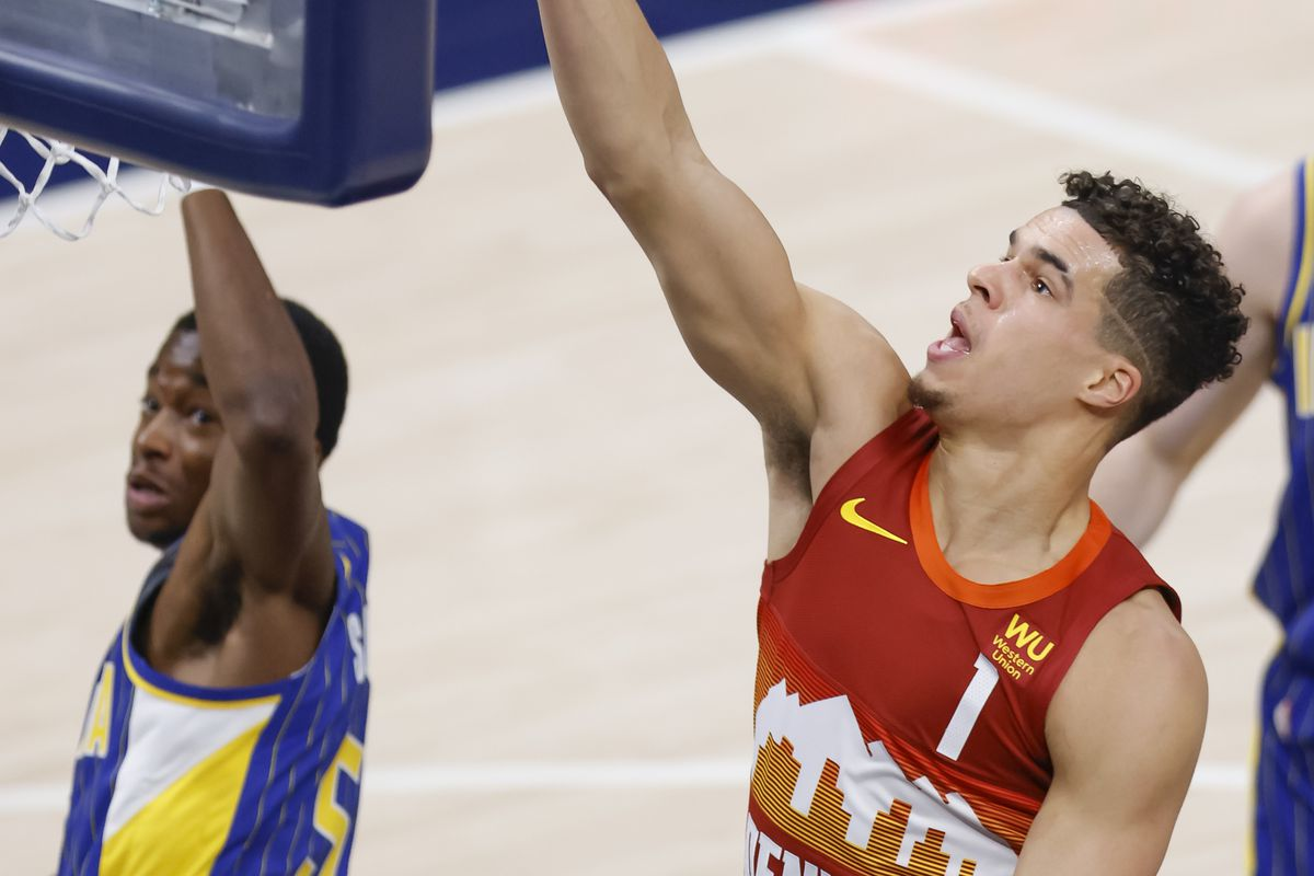 Michael Porter Jr. #1 of the Denver Nuggets shoots the ball during the second half at Bankers Life Fieldhouse on March 4, 2021 in Indianapolis, Indiana