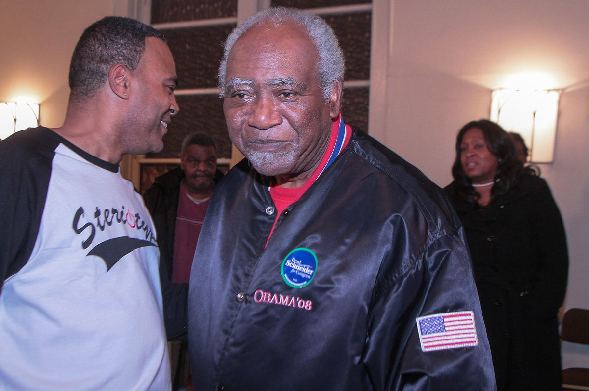 U.S. Rep. Danny Davis, D-Ill., in November at Hope Presbyterian Church Friday for the visitation for his 15-year-old grandson Javon Wilson. | Leslie Adkins / Sun-Times